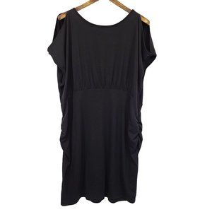 OLD NAVY MATERNITY Black Ruched Dress XXL